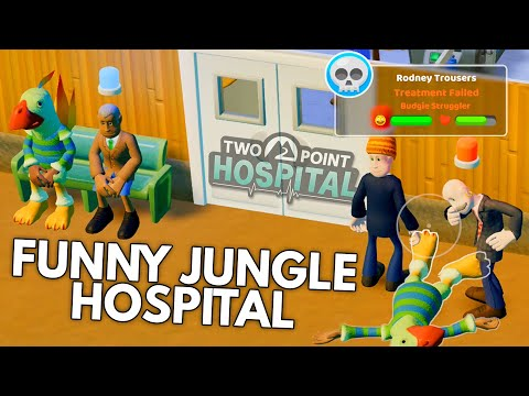 My funny jungle hospital in Two Point Hospital  