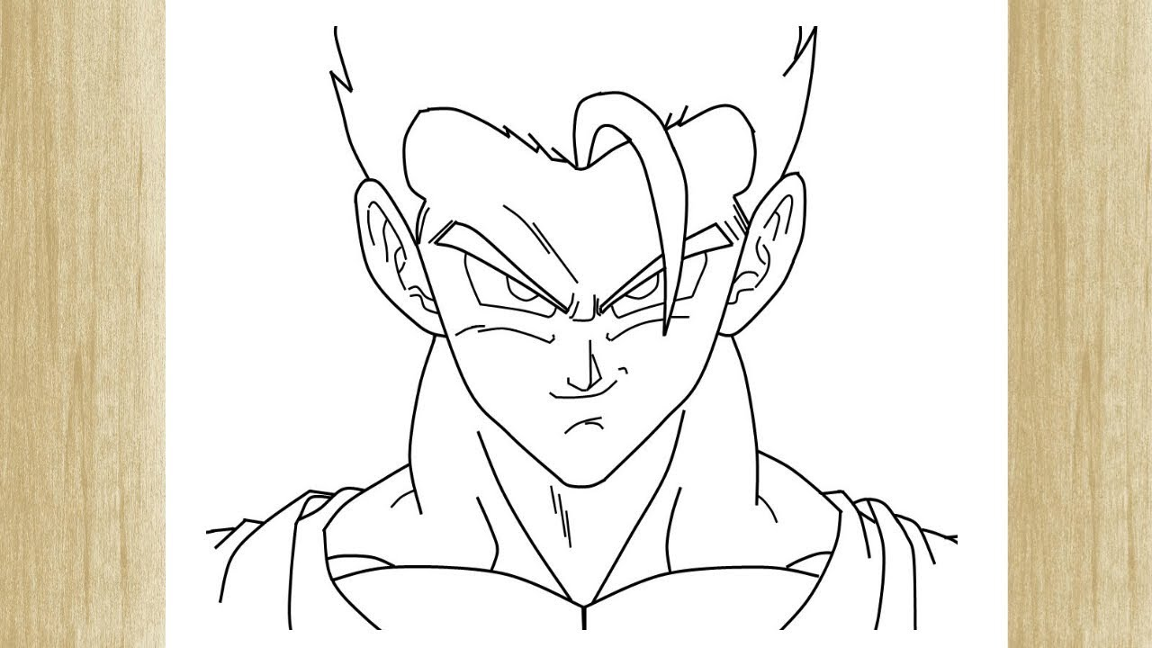 How To Draw Gohan From Dragon Ball Z Como Desenhar O Gohan De Dragon Ball Z