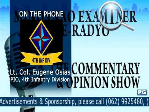 Mindanao Examiner Tele-Radyo Jan. 22, 2013