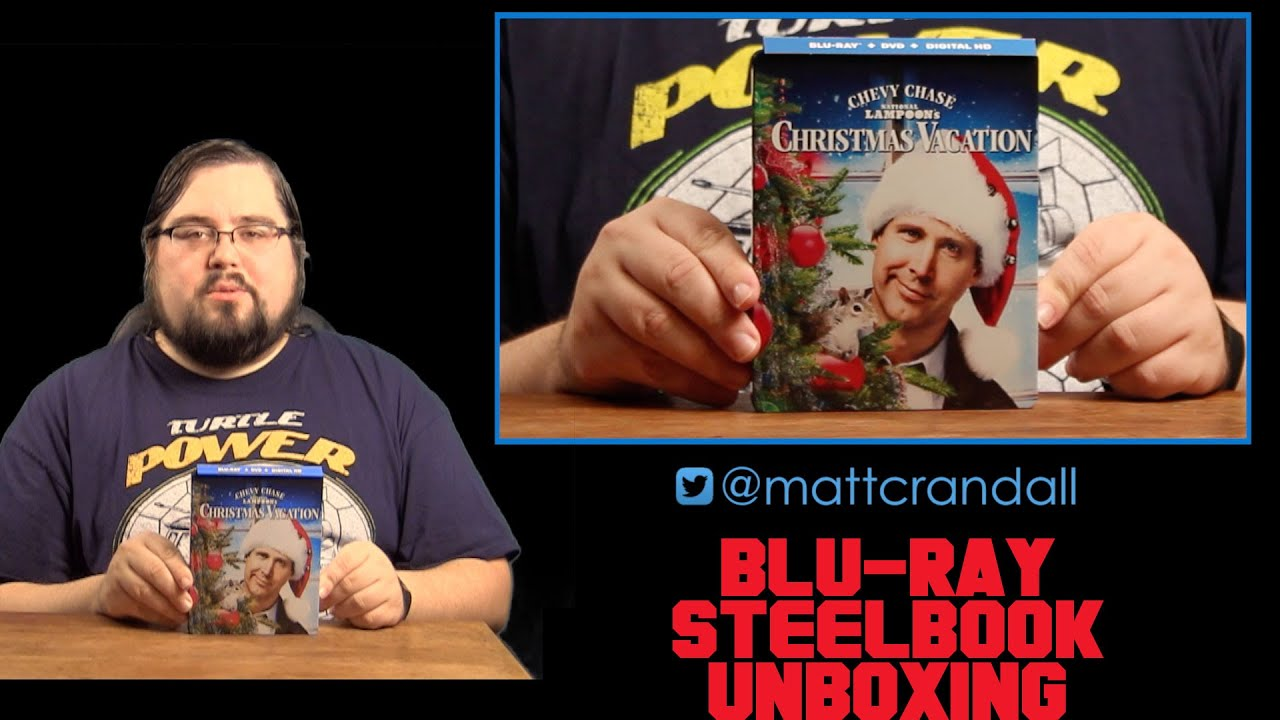 national lampoons christmas vacation steelbook blu ray unboxing crandall reviews