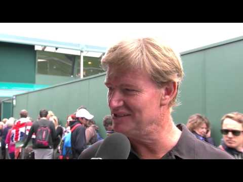Golf star Ernie Els talks to Live @ Wimbledon