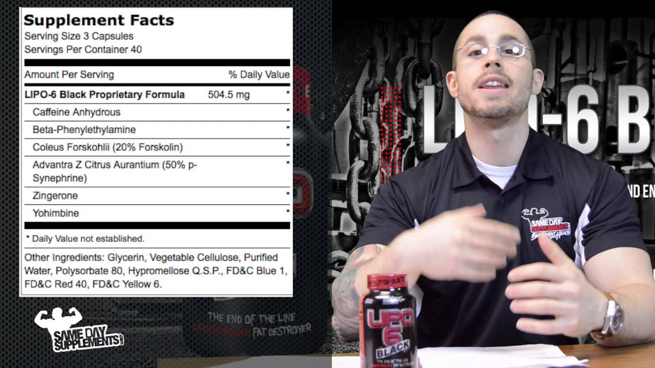 Lipo 6 Black By Nutrex Review Fat Burner