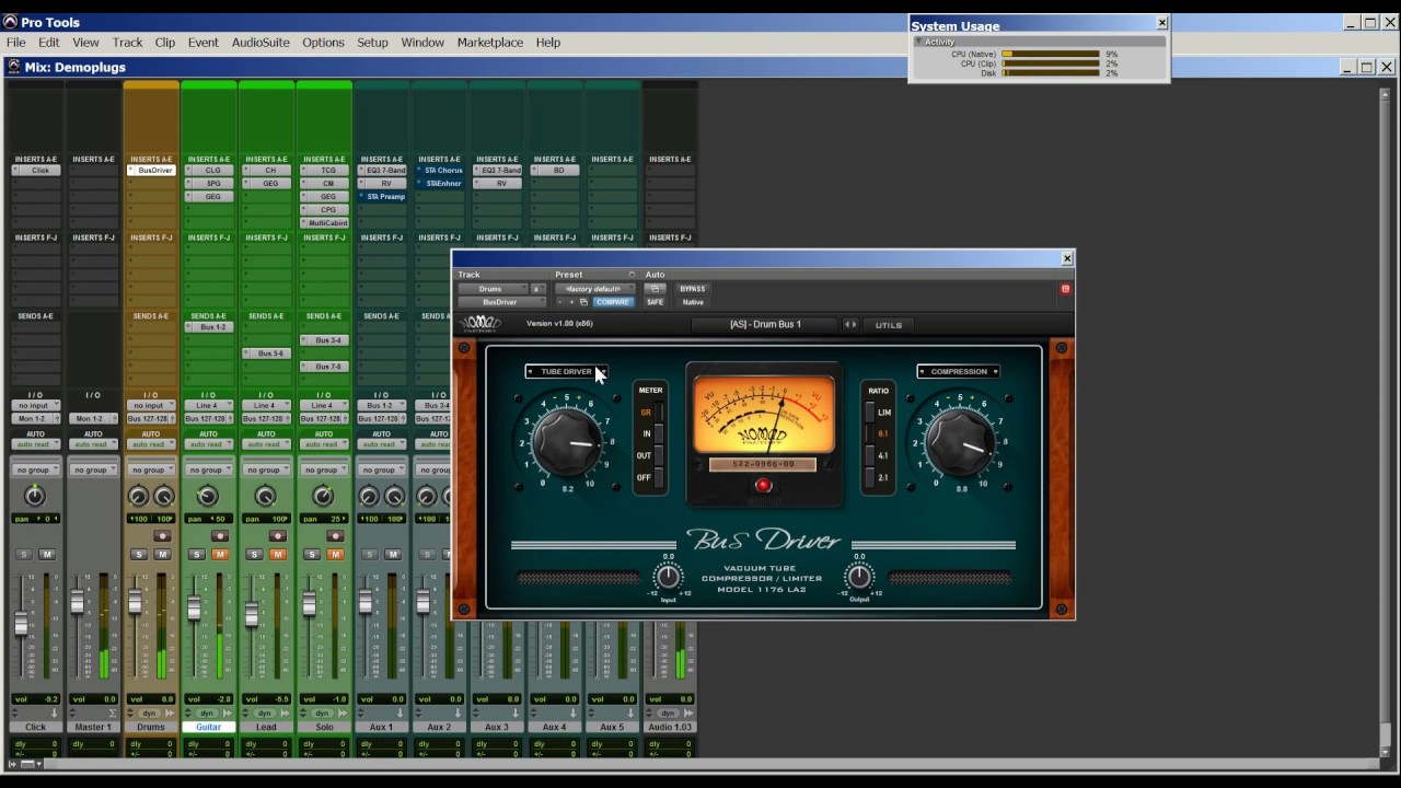 See what NOMAD FACTORY BUS DRIVER compressor/limiter can do