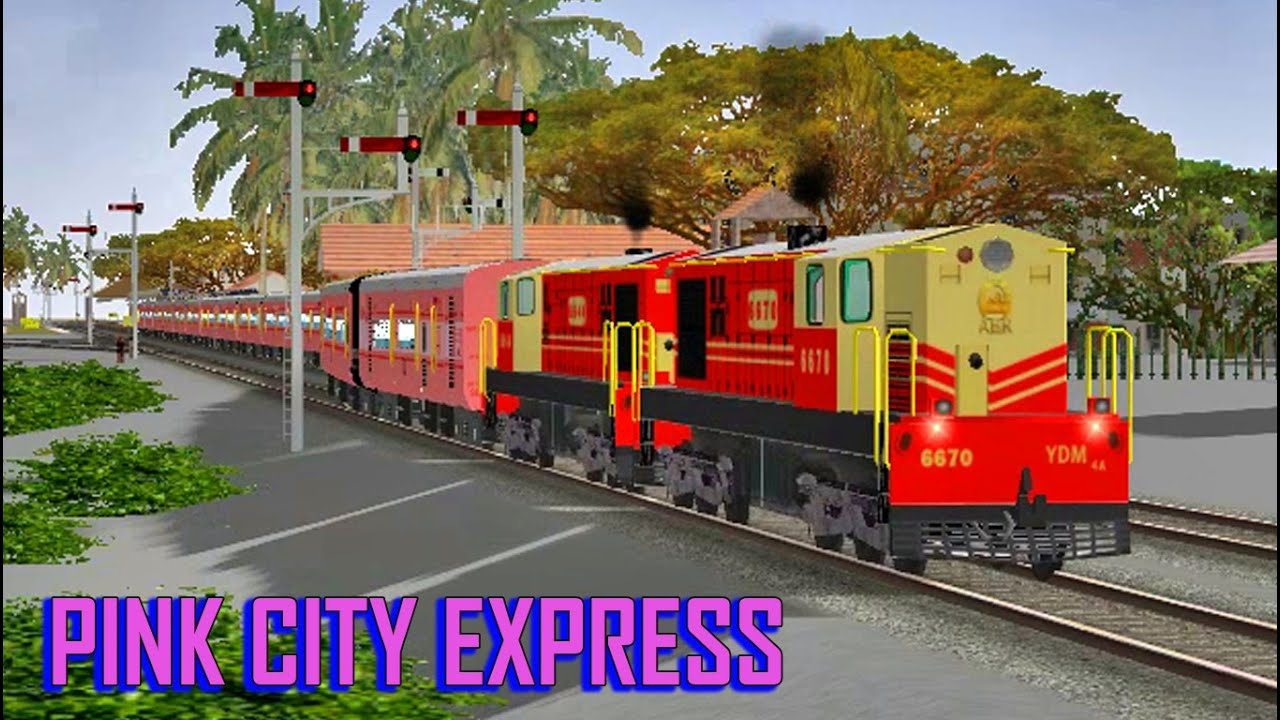 Download PINK CITY EXPRESS Recreated !! TWIN ABR YDM 4   Indian Railways, MSTS  