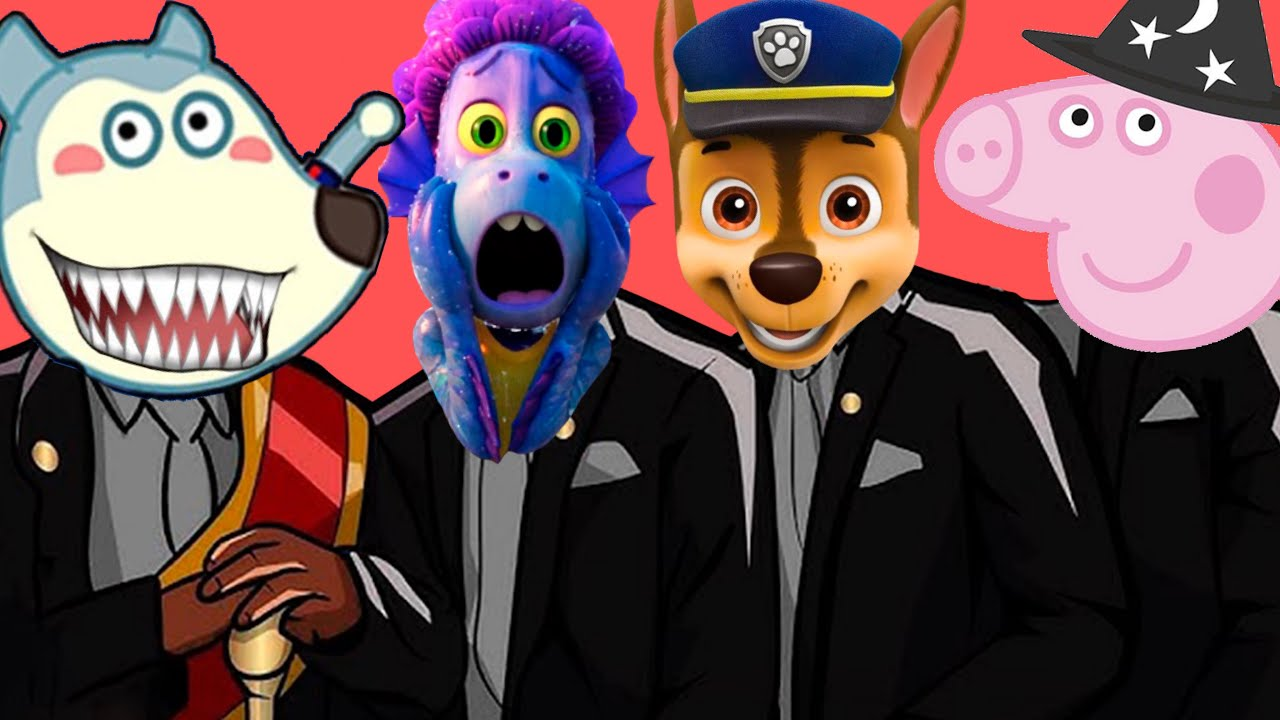 Paw Patrol & Peppa Pig Family & Wolfoo & Luca - Coffin Dance Song Megamix (Cover)