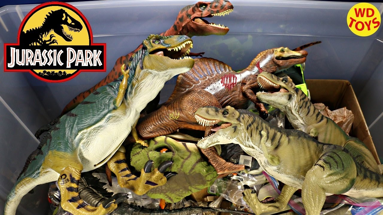 New Giant Box Jurassic Park Surprise Toys / Spinosaurus, Trex, Velociraptor  Unboxing Top 10
