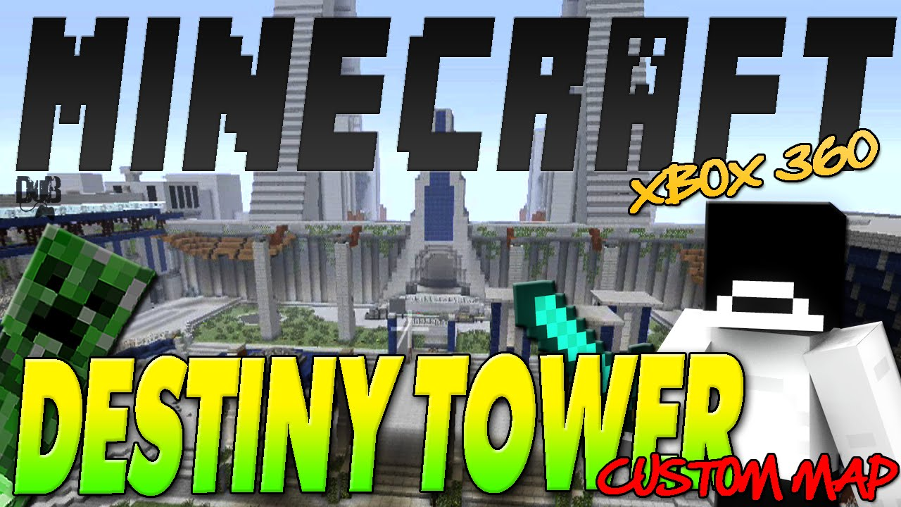 """""""DESTINY"""" Tower Re-Make In """"MINECRAFT""""!!! Check it Out!!!"""