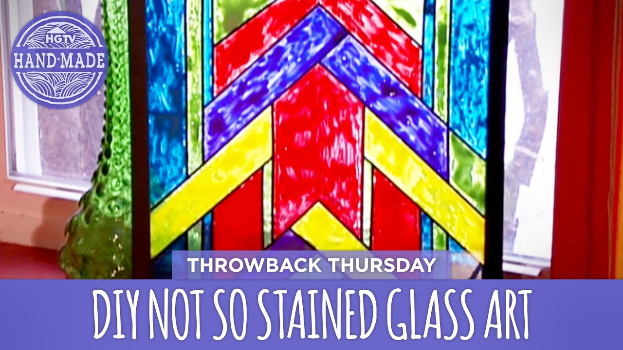 1c451bd1e74a DIY Not So Stained Glass Art - Thowback Thursday - HGTV Handmade ...