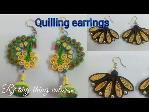 New Model quilling earrings making - How to make quilling earrings
