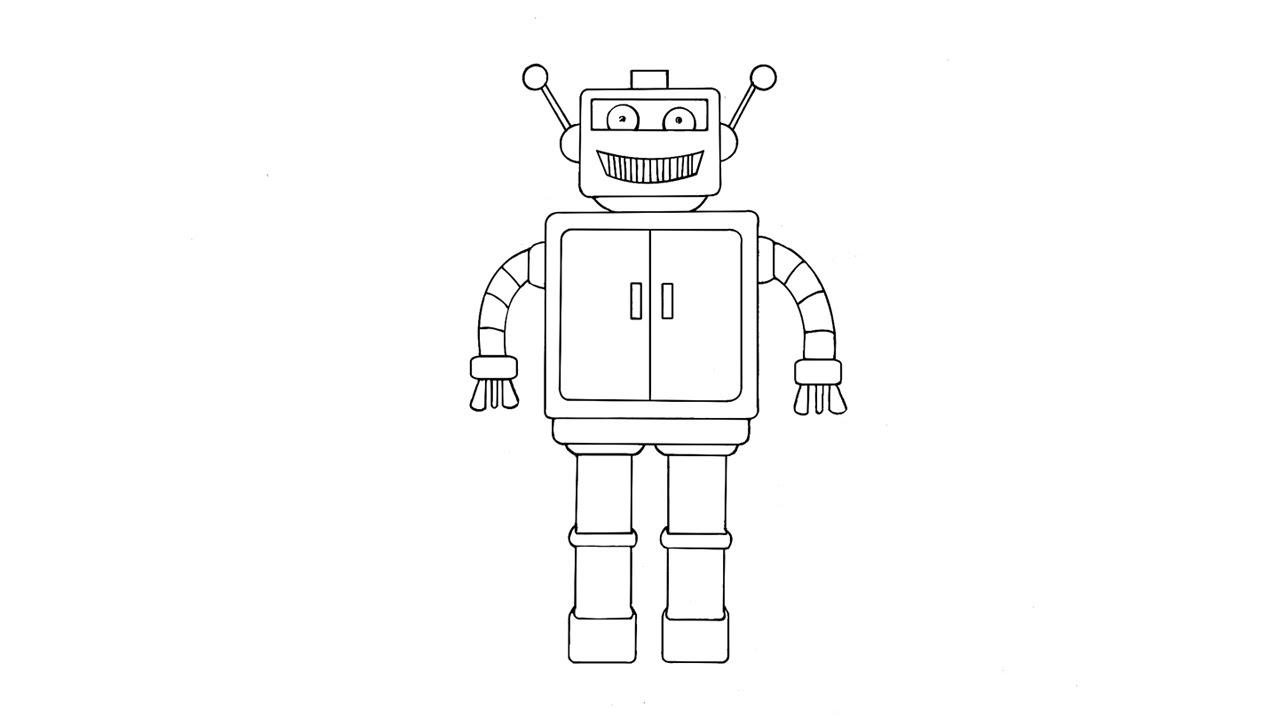 Картинки простой робот