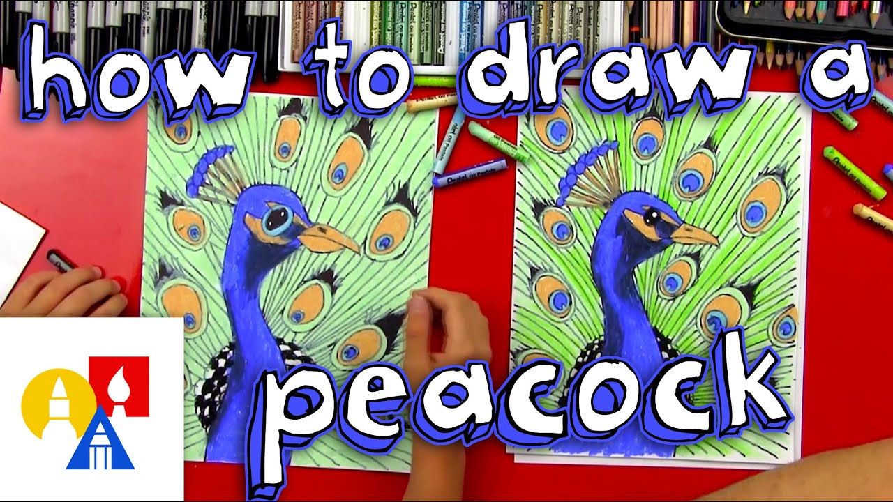 how to draw a peacock realistic youtube