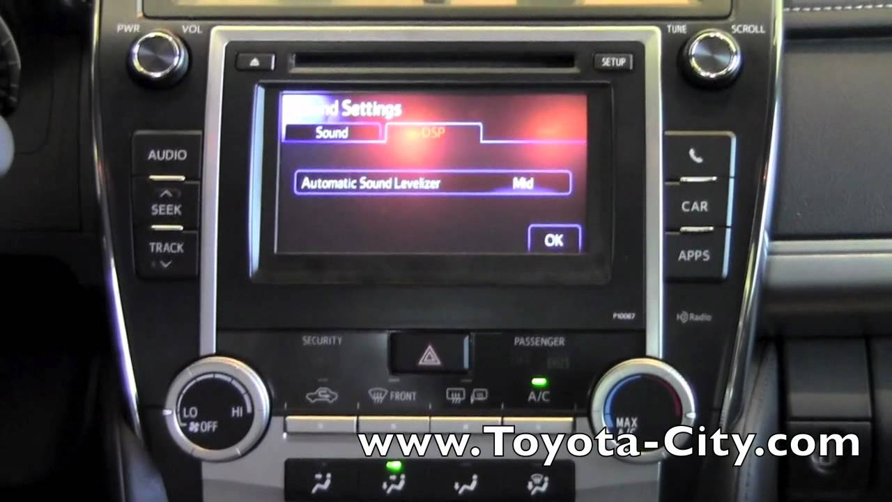 2012 Toyota Camry Basic Audio Features How To By