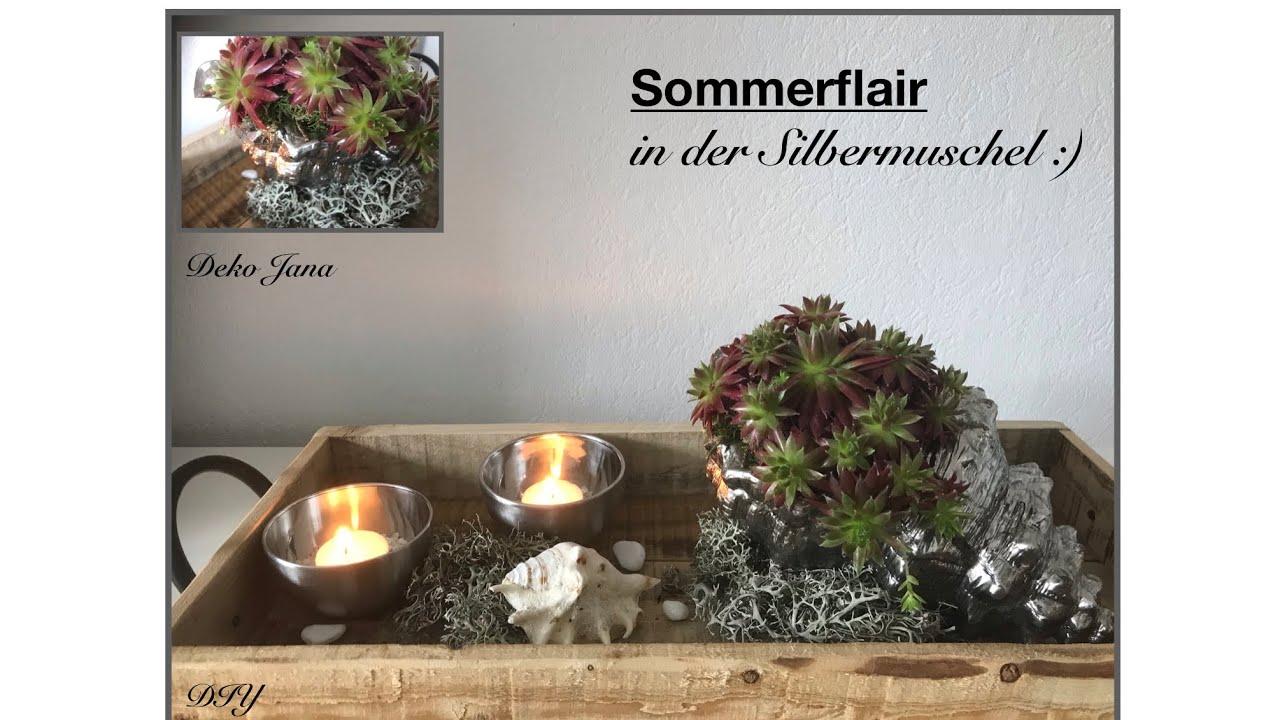 DIY: Liebe Grüße von der Insel 😎🐶☀️, Sommerdeko #7, Sukkulenten und Silber, (How to) / Deko Jana