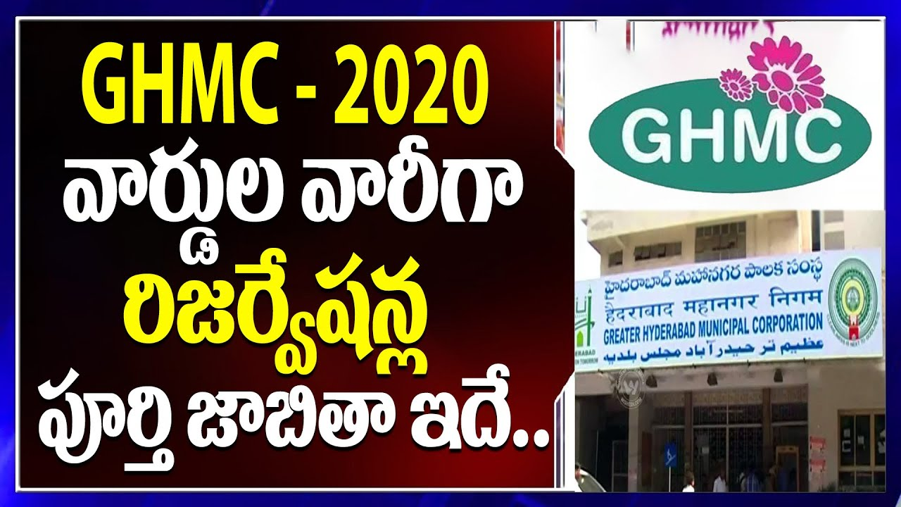 Division Wise or Ward Wise Reservation Details for Telangana GHMC Election  2020 | Top Telugu TV - YouTube