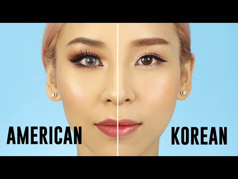 American VS Korean Style Makeup - 2017