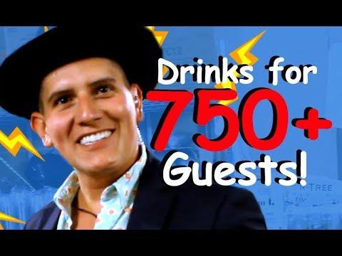MAKING COCKTAILS FOR 750+ PEOPLE!! - Jeremy Renner, Casey Neistat