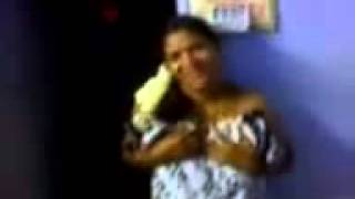 Desi Bhabhi wrapped in bedsheet pressing boobs