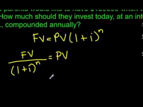8.3 Present Value Questions for Compound Interest