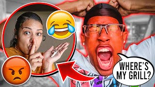 LOSING MY HUSBAND $15,000 GRILL TO SEE HOW HE WOULD REACT!! | SORRY