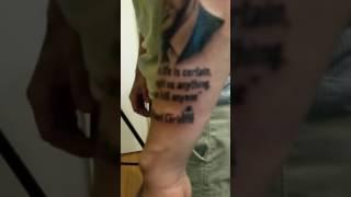 Michael Corleone portrait tattoo.
