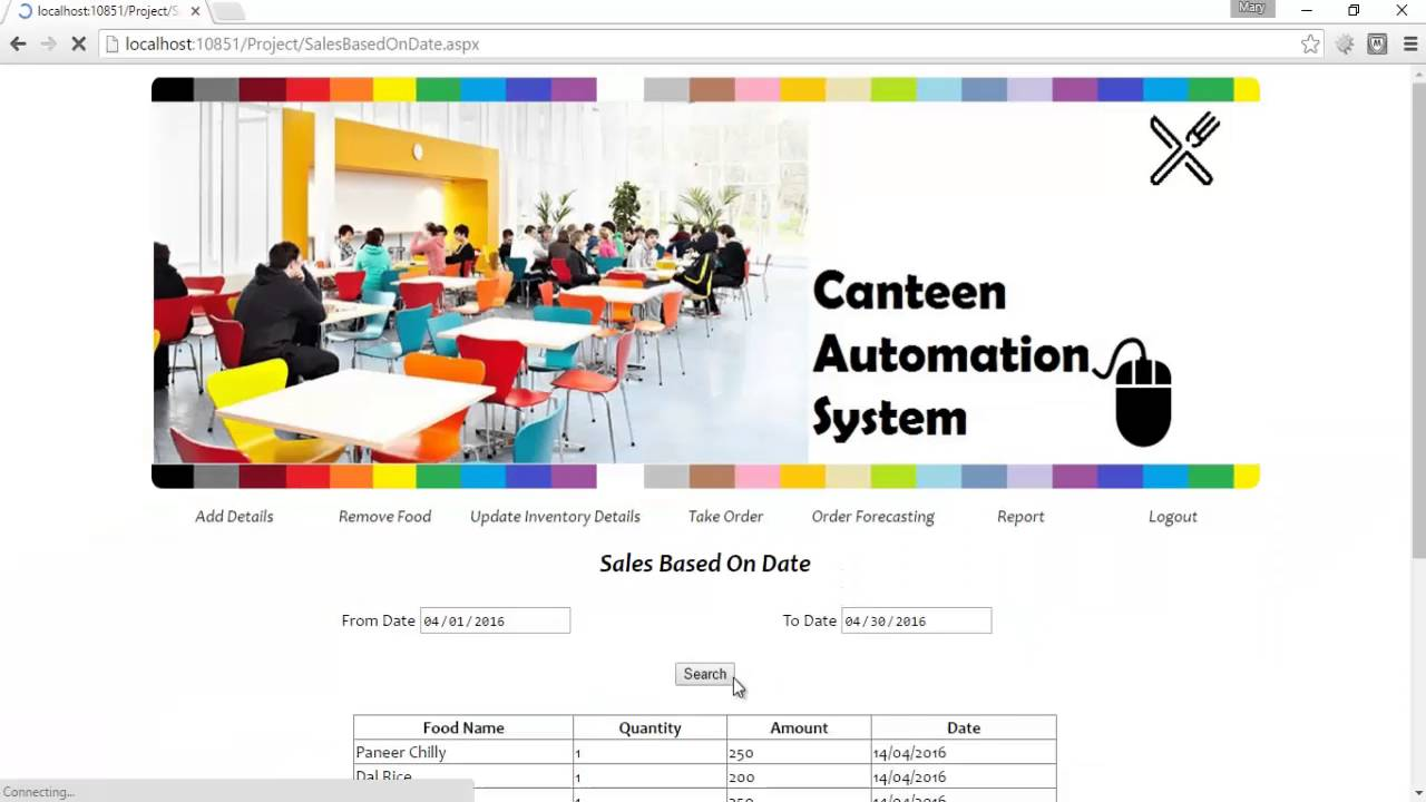 Canteen Automation System Project