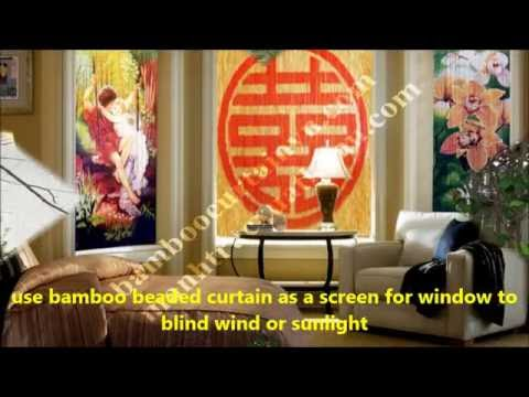how to make hand painted bamboo beaded curtain