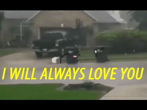 And I will always love you Trash Cans