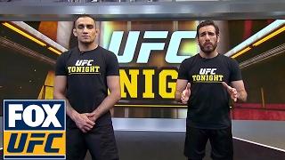 Tony Ferguson demonstrates a D'Arce choke with Kenny Florian | UFC TONIGHT