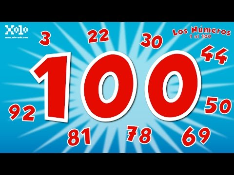 The numbers 1 to 100 in Spanish for children - Learn Videos