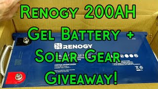 Renogy 200AH Battery 1st Look + Solar Gear Giveaway!