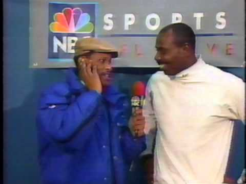 January 1990 - Ozzie Newsome Postgame Interview After Browns Playoff Win