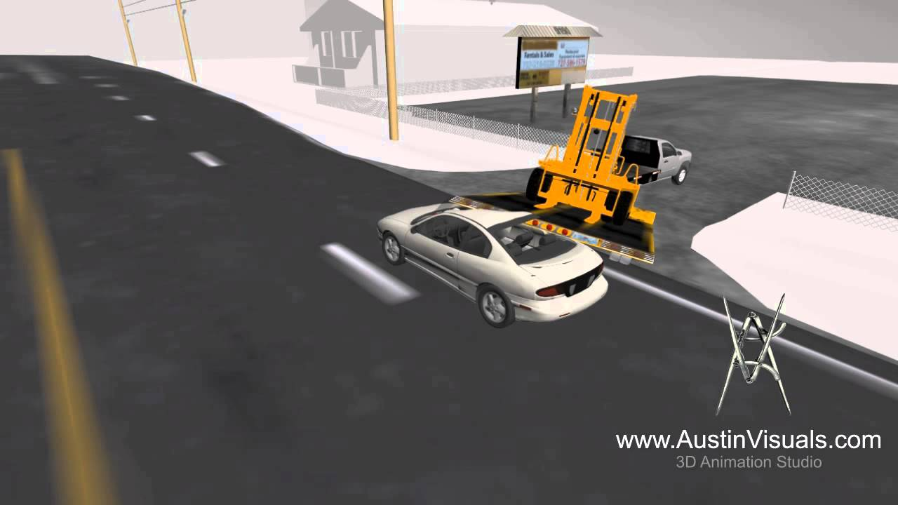 3d Vehicle Accident Reconstruction - 3d animation Recreation - YouTube