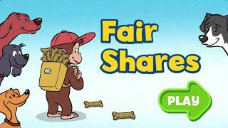 Curious George fair shares   Educational Video Game For Kids English