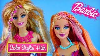 barbie color stylin hair salon color changing barbies   beauty coloring foils dctc videos