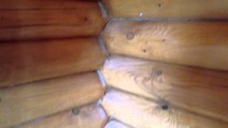 Шлифовка бревна и герметик для пазов. Как это бывает на деле..(Утепление герметиком, шлифовка сруба, герметизация швов, ремонт бани, ремонт деревянного дома, герметик..., 2014-05-19T12:49:03.000Z)