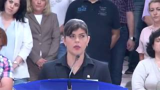 Laura Codruța Kovesi dupa ce a fost demisa oficial de la sefia DNA