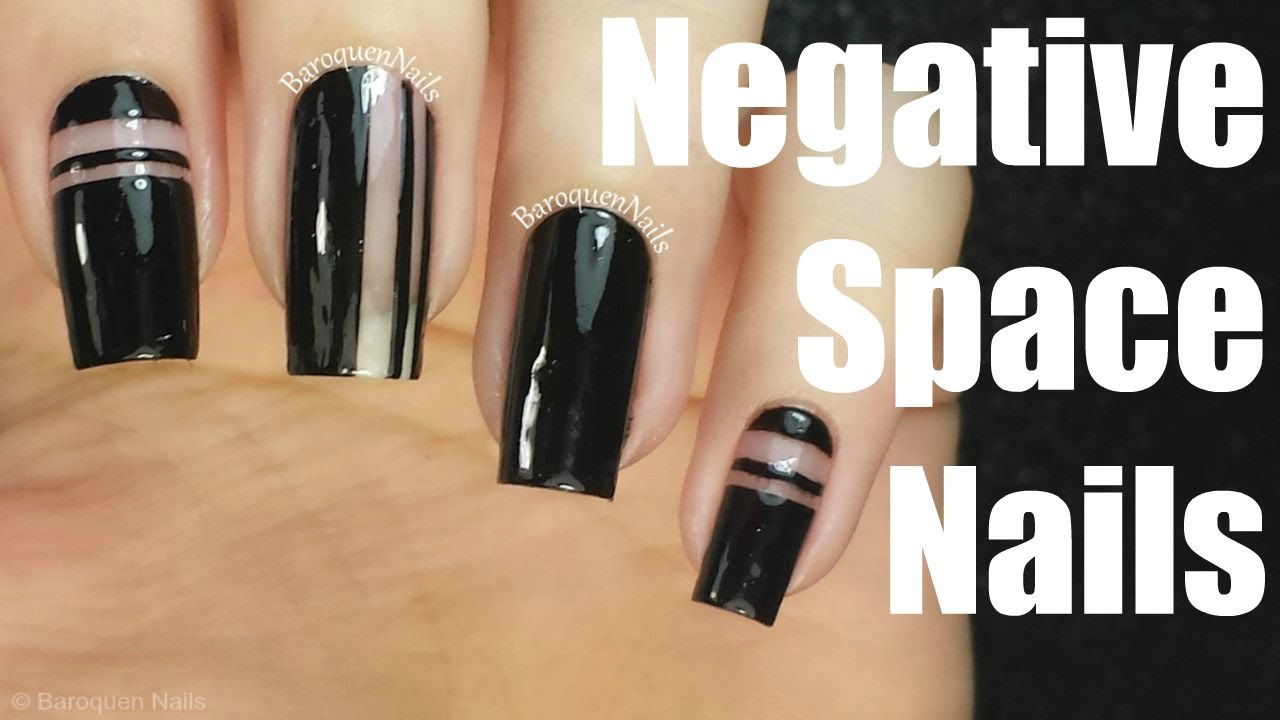Nail Art Tutorial Super Simple Negative Space Nails Tape Nail Art