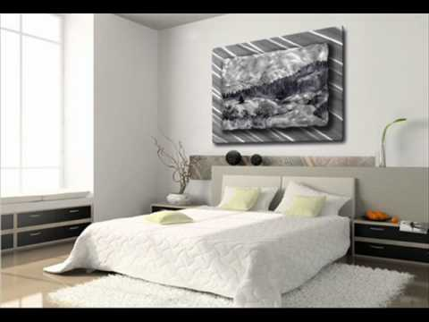 Landscape Scene In Silvers And Grays Metal Wall Art Decor Hangin.wmv