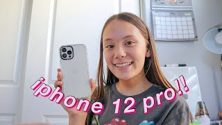 unboxing my new iphone 12 pro!! ~unboxing, accessories, setting it up~