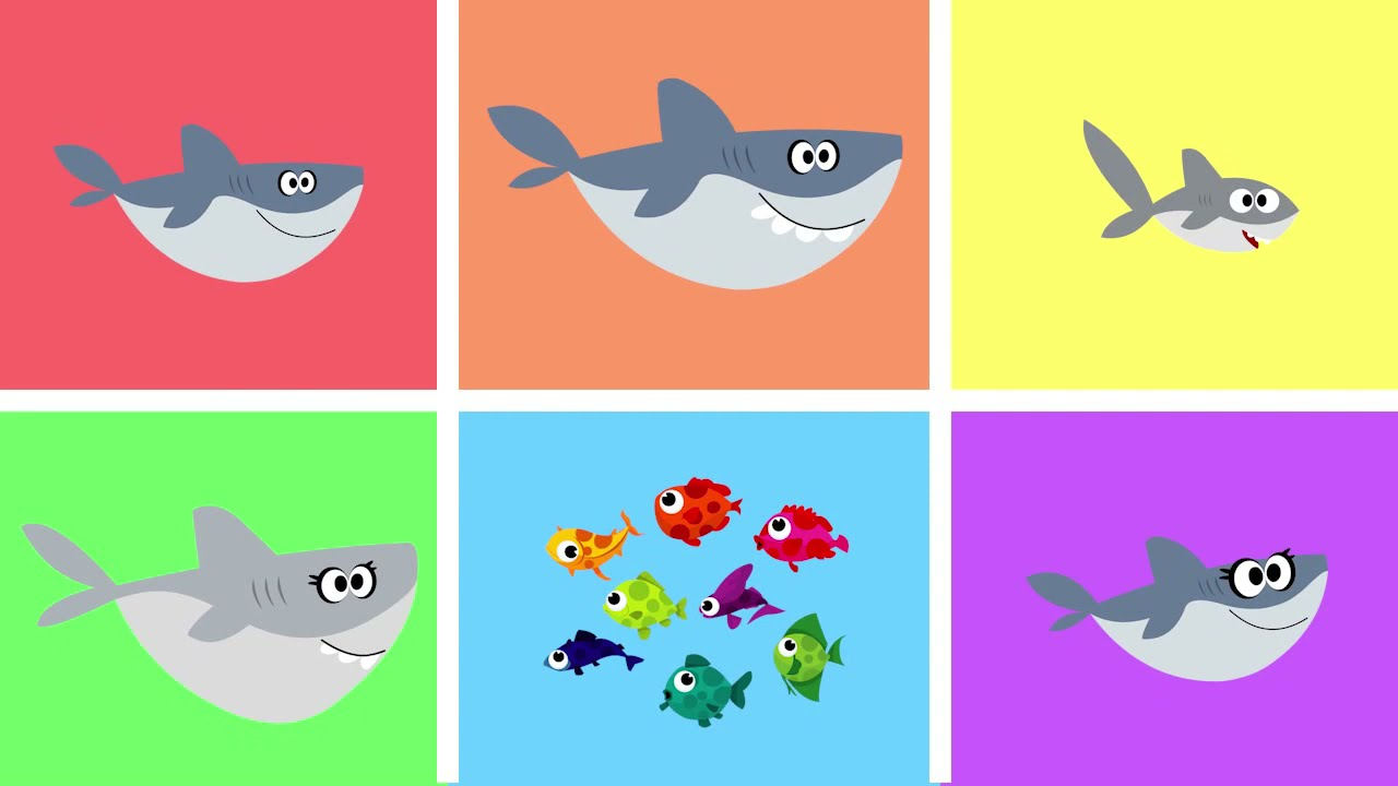 Finger Family - With SHARKS! Nursery Rhyme Song for Kids