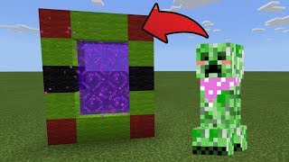 How To Make a Portal to the Friendly Creeper Dimension in MCPE (Minecraft PE)