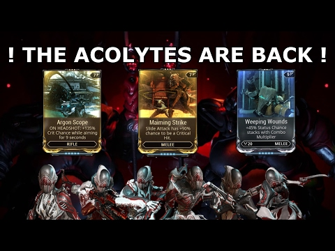 Warframe  The Acolytes Are Back Again