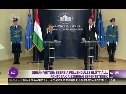 Orbán Viktor - Aleksandar Vucic sajtótájékoztató, Nis (Szerbia), 2016.11.21.
