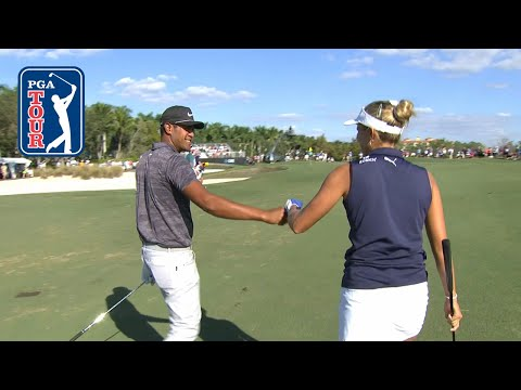Lexi Thompson/Tony Finau highlights | Round 1 | QBE Shootout 2018