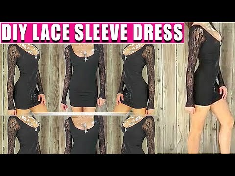 DIY LACE SLEEVE DRESS - FASHION HACK