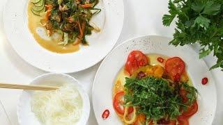 Готовим салат с мидиями и кольца кальмара с перцем и красным луком. 50 рецептов первого.