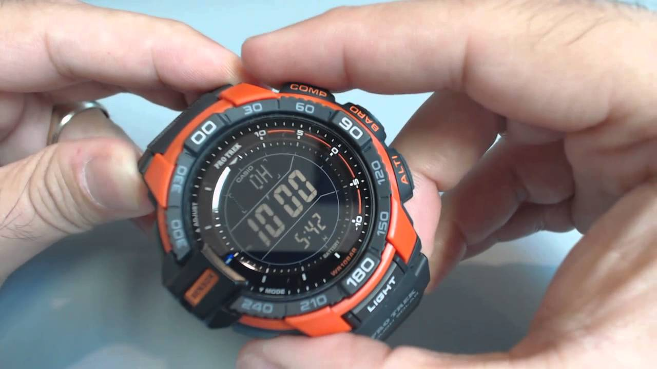 Casio Protrek PRG-270-4 Solar Compass Watch PRG270-4 - YouTube f872f9761c9