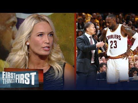 Sarah Kustok on Ty Lue's advice to Luke Walton on coaching LeBron | NBA | FIRST THINGS FIRST