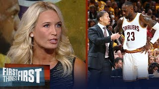 Sarah Kustok on Ty Lue's advice to Luke Walton on coaching LeBron | NBA | FIRST THINGS FIRST