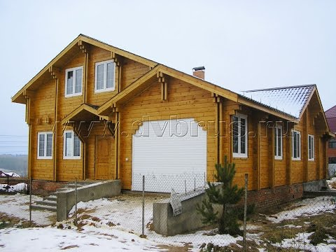 Дом из Двойного Бруса 2006 год (Первый дом в Московской области)